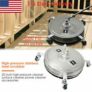 Edou 20and039and039 Pressure Washer Surface Cleaner Power Washer Accessory With 2extension