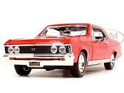 1967 Chevrolet Chevelle Ss 396 Amber Red 1/18 Diecast Model Car Motormax 73104