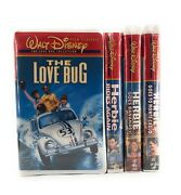 Disney Love Bug Collection Vhs Herbie Rides Again Monte Carlo Bananas Sealed