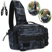 Fishing Sling Tackle Bag -1000d Water-resistant Waist Fish Bags Fishing Gear For