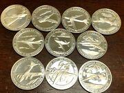 Lot Of Ten 10 Sterling Silver United States Army Air Navy Medal Coins