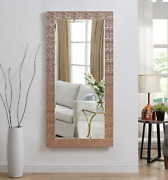Full Length Floor Mirror Mosaic Leaning Large Standing Bedroom Rose Gold New
