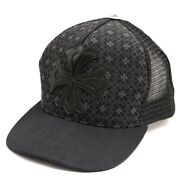 Chrome Hearts Chromehearts Tracker Cap Mesh Ch Plus Leather Patch Total Pattern