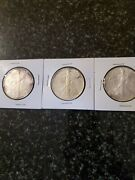 1993, 2000 And 2004 American Silver Eagle Lot Of 3 Coins Silver Is Running Low