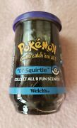 Pokemon 1999 Collectorand039s Glass Squirtle Welchand039sandnbspjelly Jar Sealed Product