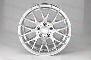 18 Hyper Silver Staggered Csl Style Rims Wheels For Bmw 320 323 330 328 335