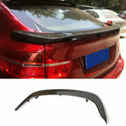 Fit For Bmw X6 E71 2008-2013 Dry Carbon Fiber Middle Rear Boot Spoiler Wing Flap