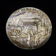 1.08 Oz .925 Sterling Silver Round - Heritage Golden Spike High Relief - F2207