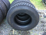 2 Used Goodyear G622rsd Load H 12r 22.5 Commercial Truck Tires A