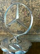 Vintage Mercedes Benz Star Assembly Hood Ornament  Nice W115 W114
