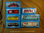 Vintage Ho Scale Life-like Campbell's Advertising Train Car Lot Of 7 - Box, Tank
