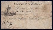 Great Britain Commercial Bank 1799 Andpound1 Stokesley Very Rare. Outing 2061b