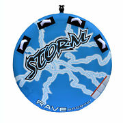 Rave Sports Storm Inflatable 2 Person Rider Towable Boat Lake Water Tube Raft