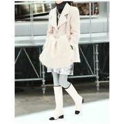 Coat Jacket Pink Knit Size 36 Outer Long Sleeves Women Fashion