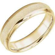 Knurl Design Menand039s Wedding Band In 14k Yellow Gold
