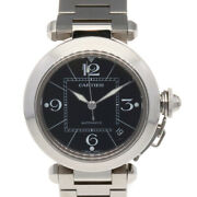Watches Silver Black Stainless Steel Pasha C From Japan Used