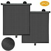 Easy Installation Car Roller Shades Visor 2pcs Baby Black Privacy Protection New