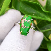 Real Green Copper Turquoise Gemstone Handmade 925 Sterling Silver Coffin Ring