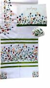Tallit For Women Traditional Jewish Prayer Shawl Embroidered Include Bag And Kippa