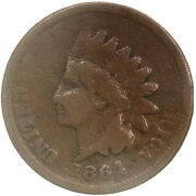 1864 L Indian Head Cent Pointed Bust About Good Penny Ag