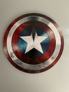 Captain America Shield Marvel Printed On Aluminum Gloss Print With Mounting Box