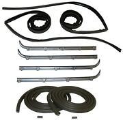 Glass Run Window Channel And Felt Sweep Belt And Door Seal 87-98 Ford Pickup Truck