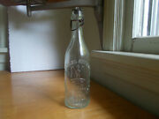 Maas New York Emb Eagle And Barrel Picture Blob Beer Bottle With Stopper 1890s