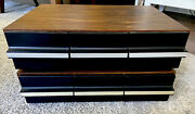 Lot Of 2 Vintage 3-drawer Faux Wood Cassette Tape Storage Case -holds 36 Each