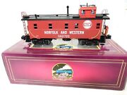 Mth Premier 20-91027 Norfolk And Western Lighted Steel Side Caboose-o Scale-ln-