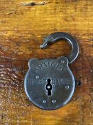 Antique Armory Eight Lever Steel Lock Working. No Key. Open Lock.