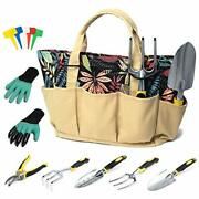 Garden Tool Set For Women Garden Tools For Gardening With Stylish Floral Tote...