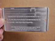 Australia Built Ford Data Plate Compliance Tag Style 2 Fps-0125