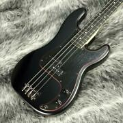 Fender Made In Japan Limited Noir Precision Bass Pre-bed