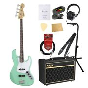 S21794 Fender Made In Japan Hybrid 60s Jazz Bass Rosewood Surf Green Electric