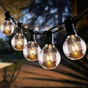 100ft Outdoor String Lights 2 Pack Of 50ft Globe Patio Lights With 112 Clear ...