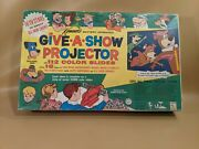 Vintage Kenner Give A Show Projector Childrenand039s Game Toy Battery Operated