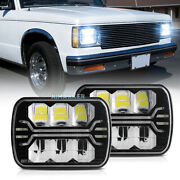 2pcs 5x7 7x6and039and039 Led Headlights Cree Drl Hi/lo Beam For Jeep Cherokee Xj Yj Chevy