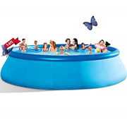 Inflatable Swimming Pools Above Ground - 14ft X 33in Blow Up Full-sized Round And