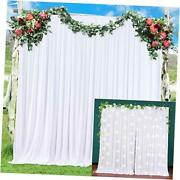 2 Panels Curtain Backdrop For Parties Baby Shower 5ft7ft,pack Of Two White
