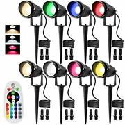 Rgb And Warm White Remote Control Color Change Landscape Lighting 8w Rgbw Led...