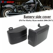 Battery Left Right Side Plastic Cover For Harley Dyna Fat Bob Fxdf Wide Glide