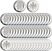 2021 S Roosevelt Dime Roll Gem Deep Cameo 99.9 Silver Proof 50 Us Coins