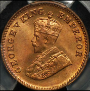1933c India British 1/12 Anna Pcgs Ms-65-rb Red-brown Low Pop R-8 High-grades