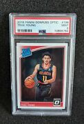 2018 Donruss Optic 198 Trae Young Rated Rookie Rc Psa 9 Mint Condition