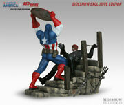Captain America Vs Red Skull Polystone Diorama By Sideshow Exclusive 365/450