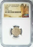 Count Of Melgueil Ngc Ms 63 France Denier 1100and039s Knights Templar Crusader Coin