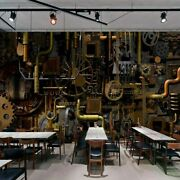 3d Cog Pipe Retro Steampunk Wall Mural Wallpaper Living Room Bedroom Lounge