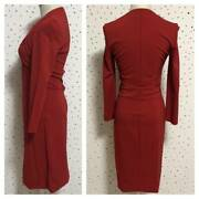 The Real Thing Long Sleeve Design Dress Red System