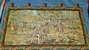 Large Wall Hanging Tapestry - 42 X 24 - Dogs / Foxhunt / Victorian