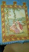 Large Wall Hanging Tapestry - 36 X 26 - Victorian - Dame Lago
